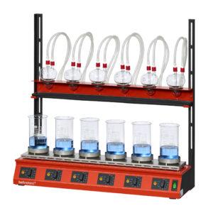 EXR6 behrotest® apparatus for crude fibre separation